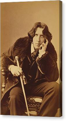 Oscar Wilde - Irish Author And Poet Canvas Print by War Is Hell Store