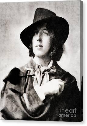 Famous Literature Canvas Print - Oscar Wilde, Literary Legend by John Springfield