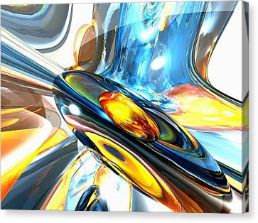 Oscillating Color Abstract Canvas Print by Alexander Butler