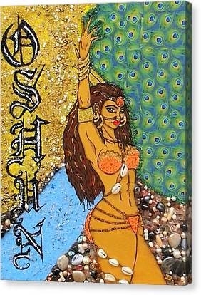 Orishas Canvas Print - Oshun by Allison Aaron