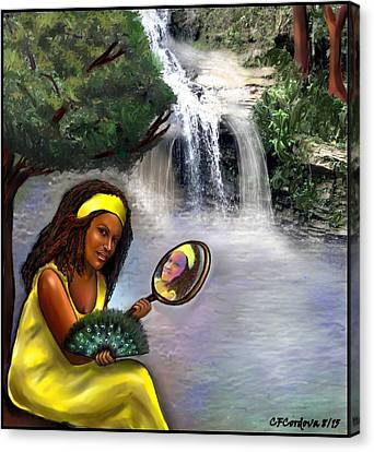 Oshun -orisha Of Love Canvas Print by Carmen Cordova