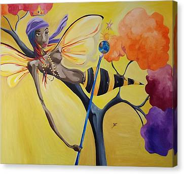 Oshun Orisha Of Love Canvas Print by JaFleu