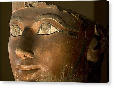 Osiris Statue Face Of Hatshepsut Canvas Print by Kenneth Garrett