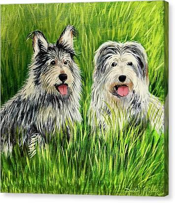Oskar And Reggie Canvas Print