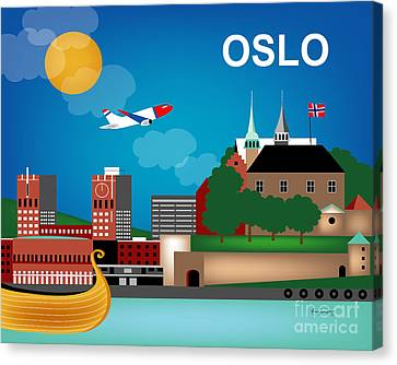 Oslo Norway Horizontal Scene Canvas Print