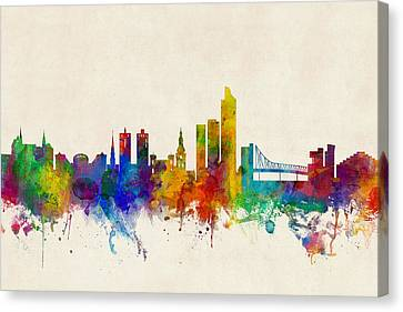 Oslo Norway Skyline Canvas Print