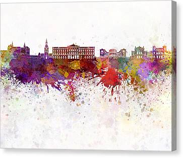 MECCA SKYLINE WATERCOLOUR PAINT STYLE CANVAS PRINT WALL ART PICTURE PHOTO