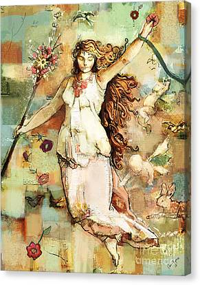 Ostara Canvas Print by Carrie Joy Byrnes
