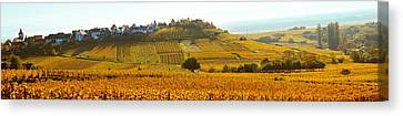 Rhin Canvas Print - Ostheim Village And Vineyards by Panoramic Images