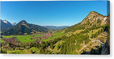 Ostrachtal, Allgaeu Alps Canvas Print by Walter Allgoewer