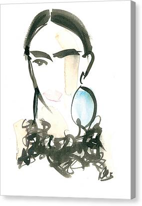Ostrich Collar Canvas Print