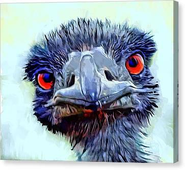 Ostrich Portrait Canvas Print by Scott Wallace