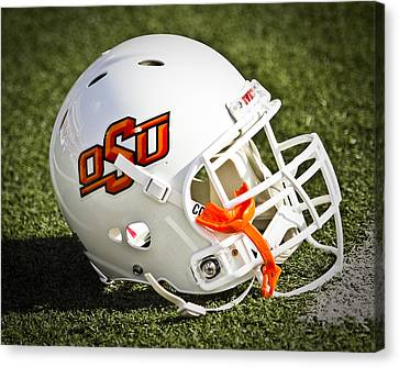 Osu Football Helmet Canvas Print by Replay Photos