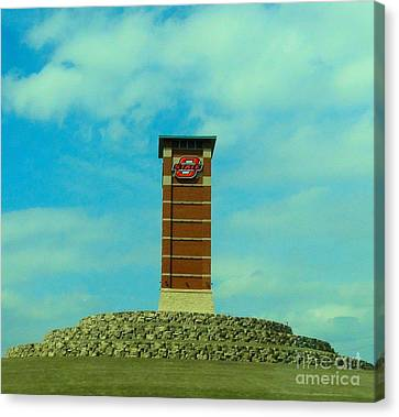 Oklahoma State University Gateway To Osu Tulsa Campus Canvas Print by Janette Boyd
