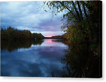 Oswego River Canvas Print by Everet Regal