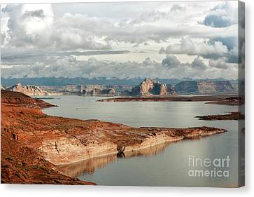 Otherworldly Morning At Lake Powell Canvas Print by Sandra Bronstein