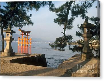 Miyajima Canvas Print - Otori Gate Of The Itsukushima Shrine by Ulrike Welsch