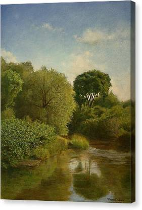 Canvas Print featuring the painting Otselic River by Wayne Daniels