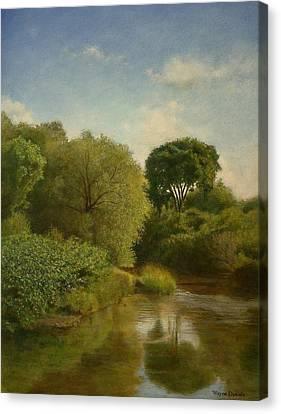 Otselic River Canvas Print by Wayne Daniels
