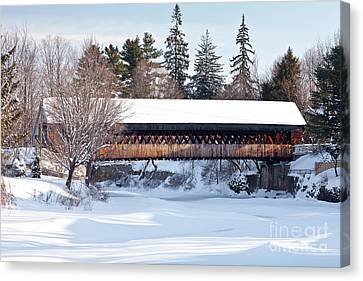 Canvas Print featuring the photograph Ottaquechee Middle Bridge by Susan Cole Kelly