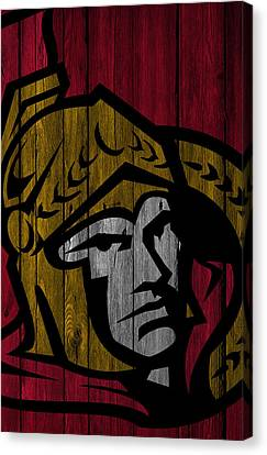 Ottawa Senators Wood Fence Canvas Print by Joe Hamilton