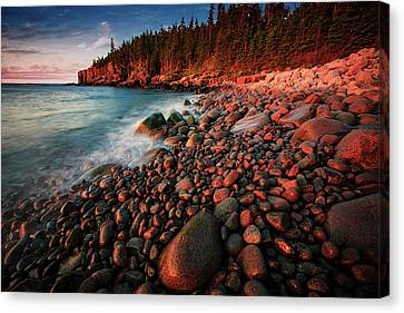Canvas Print featuring the photograph Otter Beach Main After The First Light  by Emmanuel Panagiotakis