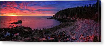 Canvas Print featuring the photograph Otter Beach Maine Sunrise  by Emmanuel Panagiotakis