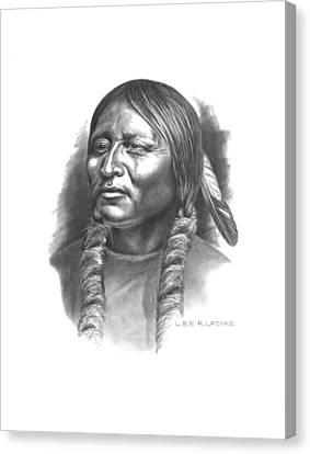 Comanche Canvas Print - Otter Belt by Lee Updike