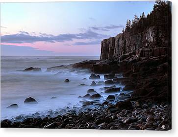 Otter Cliff Awash Canvas Print