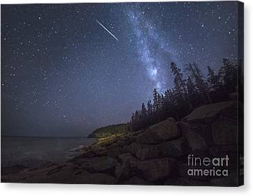 Otter Cove Meteor Canvas Print by Marco Crupi