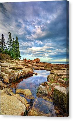 Otter Point Reflections Canvas Print by Rick Berk