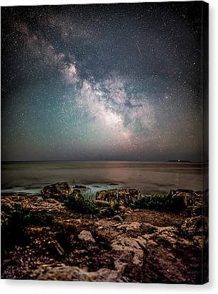 Otter Point Under The Stars. Canvas Print by Brent L Ander