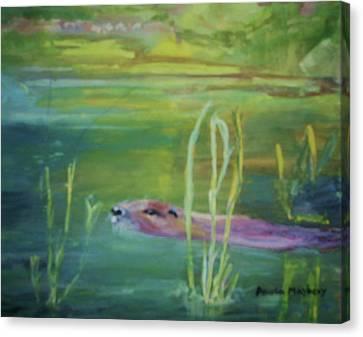 Otters World Canvas Print