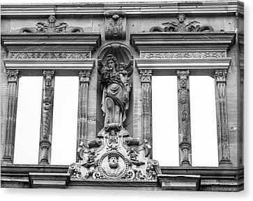 Ottheinrich And Windows Of The Ottheinrichsbau B W Canvas Print by Teresa Mucha