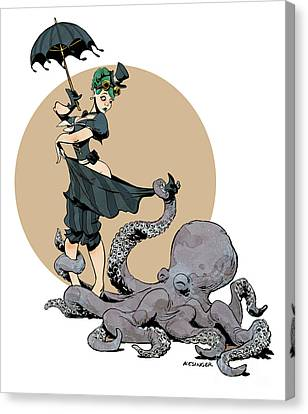 Otto By The Sea Canvas Print by Brian Kesinger