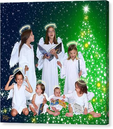 Canvas Print featuring the painting Our 2015 Angel Choir by Doug Kreuger