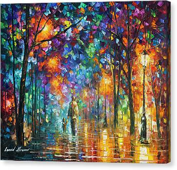 Our Best Friend  Canvas Print by Leonid Afremov
