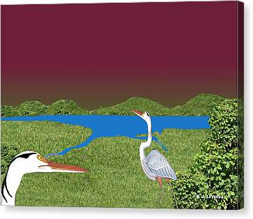 Our Blue Herons Canvas Print