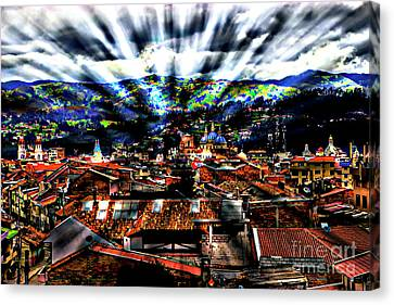 Our City In The Andes Canvas Print by Al Bourassa