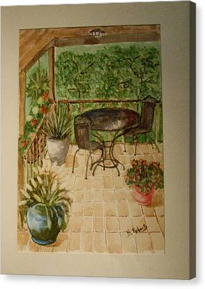 Our Front Porch Canvas Print by Bobbie Roberts
