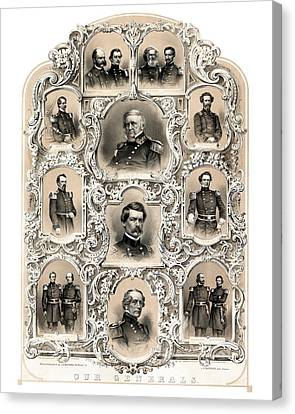 Our Generals -- Union Civil War Canvas Print by War Is Hell Store