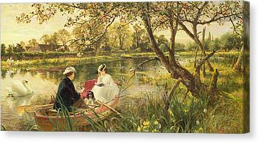 Charles River Canvas Print - Our Holiday by Charles James Lewis