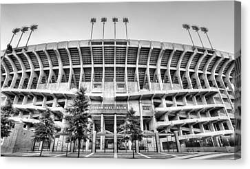 Our House Auburn Jordan-hare Black And White Canvas Print by JC Findley