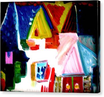 Canvas Print featuring the painting Our House Is A Very Very Very Fine House by Laura  Grisham