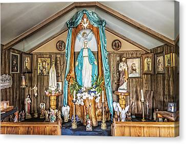Our Lady Of Blind River Canvas Print by Andy Crawford