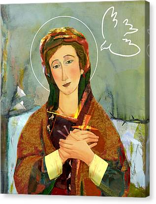 Our Lady Of Compassion Canvas Print by Michael Torevell