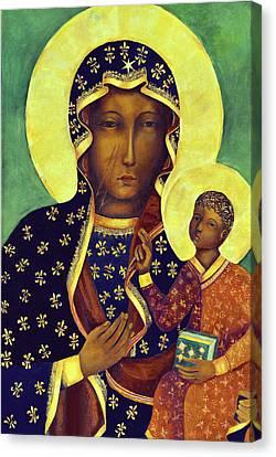 Our Lady Of Czestochowa Black Madonna Poland Canvas Print by Magdalena Walulik