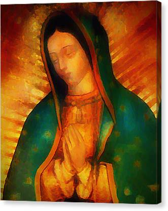 Our Lady Of Guadalupe Canvas Print - Our Lady Of Guadalupe by Bill Cannon