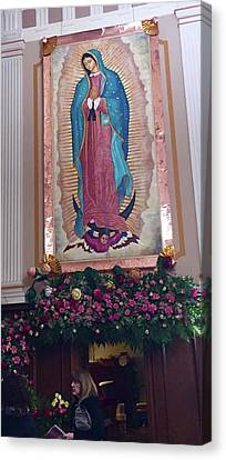 Our Lady Of Guadalupe Detail Canvas Print by Patrick RANKIN