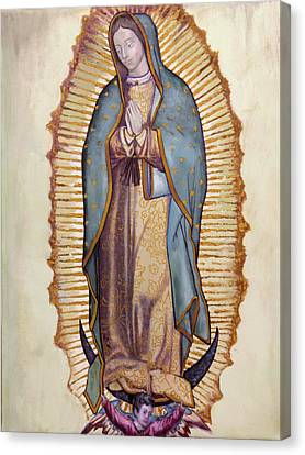 Juans Canvas Print - Our Lady Of Guadalupe by Richard Barone